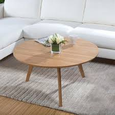 round wood coffee table rustic coffee table small apartment creative home living room style wood