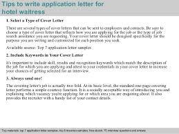 inspirational cover letter for waitressing job 44 in cover letter