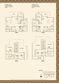 blk 85 parc rosewood parc rosewood block 83 3 bedroom penthouse type 85 d1 85 e1 floor plans