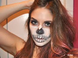 Skeleton Halloween Face Makeup by The Gloss Investigates Is This Halloween Skull Makeup Tutorial