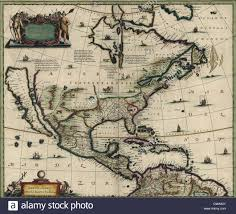 Spanish Map Of South America by French Map Of Central And South America French 1550 Stock Photo