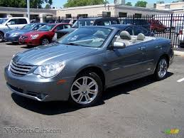 2008 chrysler sebring limited hardtop convertible in silver steel