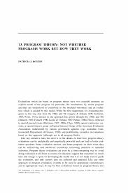 writing an abstract for a paper program theory not whether programs work but how they work springer inside
