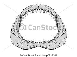 shark jaw shark jaw isolated on white eps vector search clip