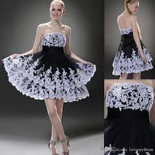 black and white dresses homecoming dress cheap 2017 oscar black white tiered skirt