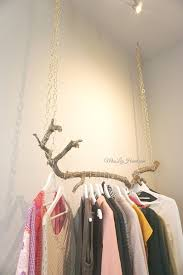 Hanging Clothes Rack From Ceiling Diy Hanging Clothes Rack Home Design Ideas