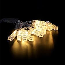 string lights with clips jeswell led photo clip string lights with 40 photo clips battery