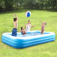 deluxe rectangular inflatable family pool christmas tree shops