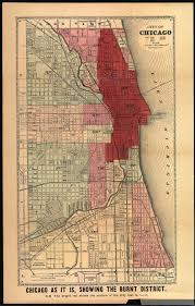 Chicago Map Poster by Maps Show How Chicago Was Devastated After The Great Fire Of 1871