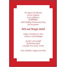 40th wedding anniversary invitation templates cloudinvitation com