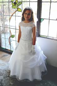 catholic confirmation dresses stunning dress with draped organza skirt ag1624