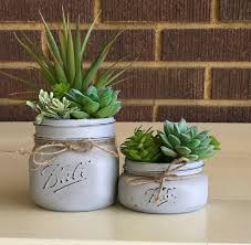 planter for succulents mason jar decor mason jar succulent planter succulent