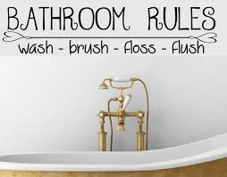 bathroom rules removable wall art vinyl graphic decal home decor