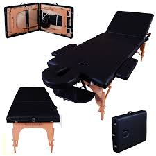 Massage Table Rental by Massage Imperial Deluxe Lightweight Black 3 Section Portable