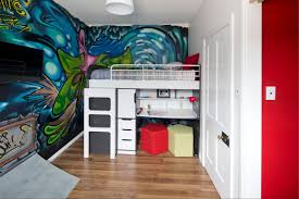 baby nursery kids room murals for modern wall accent cartoon baby nursery cartoon painting wall accent design idea white wooden laminate bunk bed round white