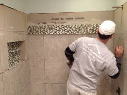 Installing Glass Tile Decorative Bathroom Tile Band Of Glass Tiles Peppered With