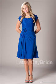 casual dress for wedding casual royal blue modest bridesmaid dresses with