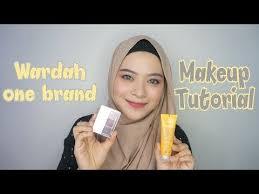 review tutorial make up natural wardah wardah one brand makeup tutorial review 2018 rahmatika putri