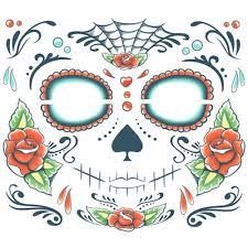 sugar skull temporary temporary tattoos shop costume