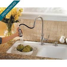 stainless steel hanover 1 handle pull down kitchen faucet f 529