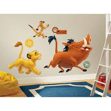 roommates 19 in x 25 in the lion king peel and stick giant wall the lion king peel and stick giant wall