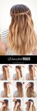 tutorial rambut waterfall waterfall flower braid hair pinterest flower hair style