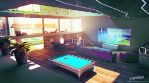 artstation streamline concept art game room sylvain sarrailh