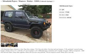 lifted mitsubishi montero craigslist autotrader cars com etc etc finds