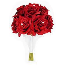 one dozen roses 8 wedding bridal bouquet xlbq002 rd one dozen