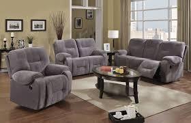 charming recliner sofa sets with grey microfiber recliner sofa