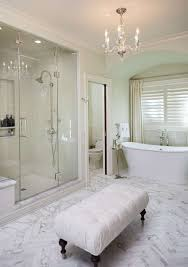 Chandelier Floor Stand by Elegant Bathroom Design With Stand Alone Tub Glass Door Shower