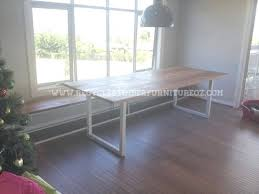 Dining Table White Legs Wooden Top Dining Table With White Legs Oak Dining Table With White Metal