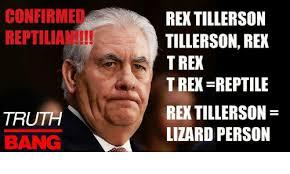 T Rex Bed Meme - confirmed reptilia truth rex tillerson tillerson rex trek trex