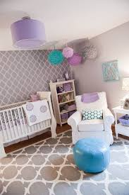 gray purple teal pink nursery this would be so cute as a