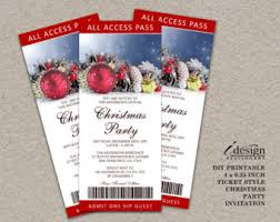 ticket invitation etsy