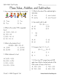third grade math test practice worksheet have fun teaching
