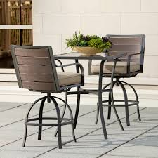 Ty Pennington Bar by Ty Pennington Quincy 3pc High Swivel Bistro Outdoor Living