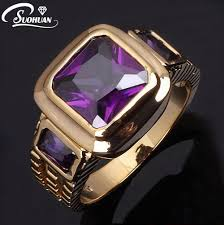 aliexpress buy gents rings new design yellow gold wholesale finger rings new fashion men s purple jewelry cz ip