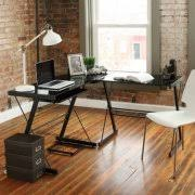 Glass Corner Desks Glass Metal Corner Desks