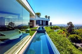 perfect luxury glass and concrete meets all requirements for