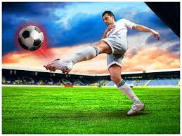football powerpoint template ppt slide templates vision