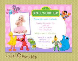 1st sesame street u2013 bagvania free printable invitation template