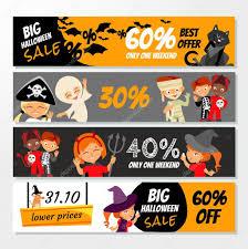 Cute Halloween Graphics by Cute Halloween Sale Banners U2014 Stock Vector Funnyclay 103129140