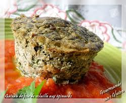 cuisiner foie de volaille gourmande sans gluten gâteau de foie de volailles aux épinards