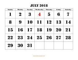 printable calendars free july 2018 printable calendar free download monthly calendar templates