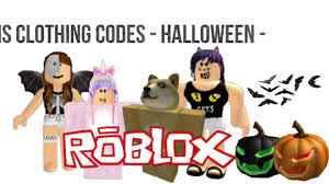 roblox halloween clothing codes tutorial youtube