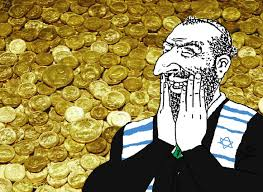 Shekels Meme - happy merchant with his gold coin stash happy merchant know