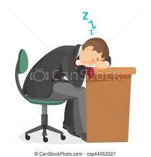 clipart bureau slapende slapend bureau overzicht mannelijke tafel