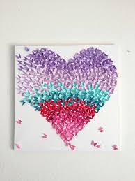 Handmade Nursery Decor by Custom Butterfly Heart Canvas Art Wall Decor Nursery Decor