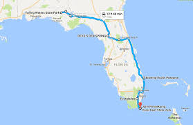 Everglades Florida Map by The Ultimate Florida Natural Wonders Road Trip